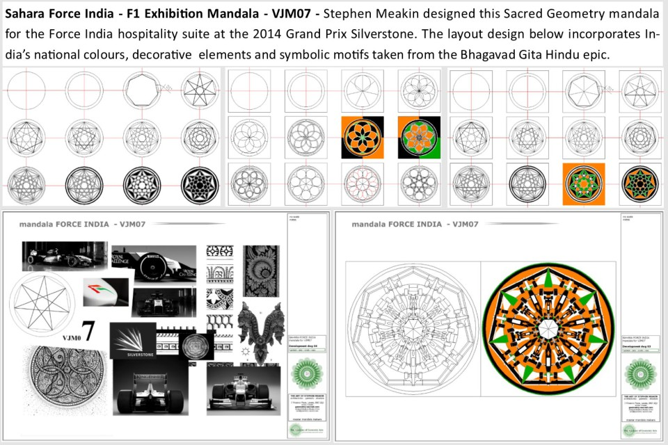 Mandala Designs by Artist Stephen Meakin at The Mandala Gallery, Lewes, East Sussex