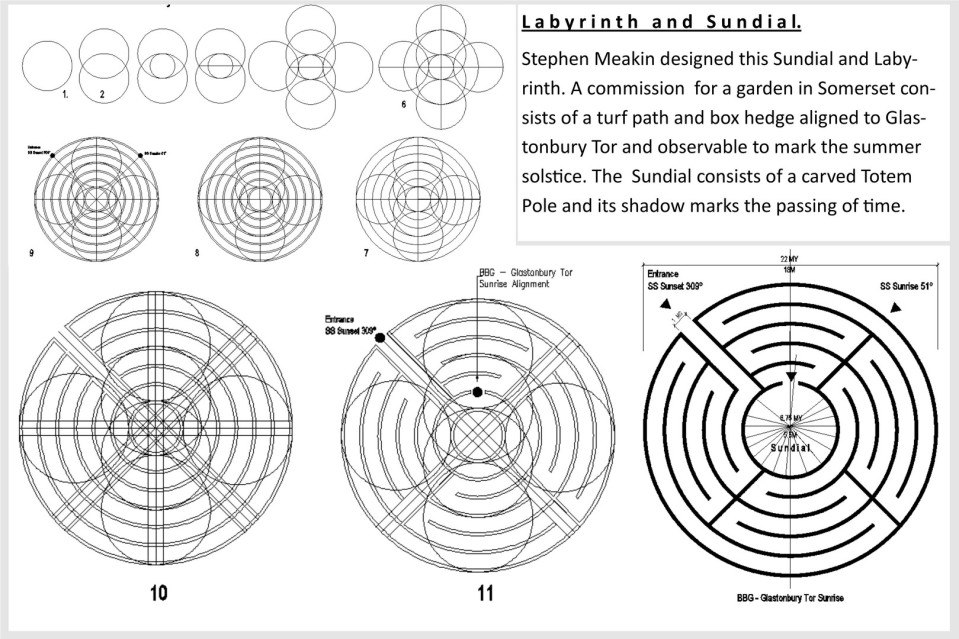 Sacred Geometry used for Labyrinth Design by Artist Stephen Meakin