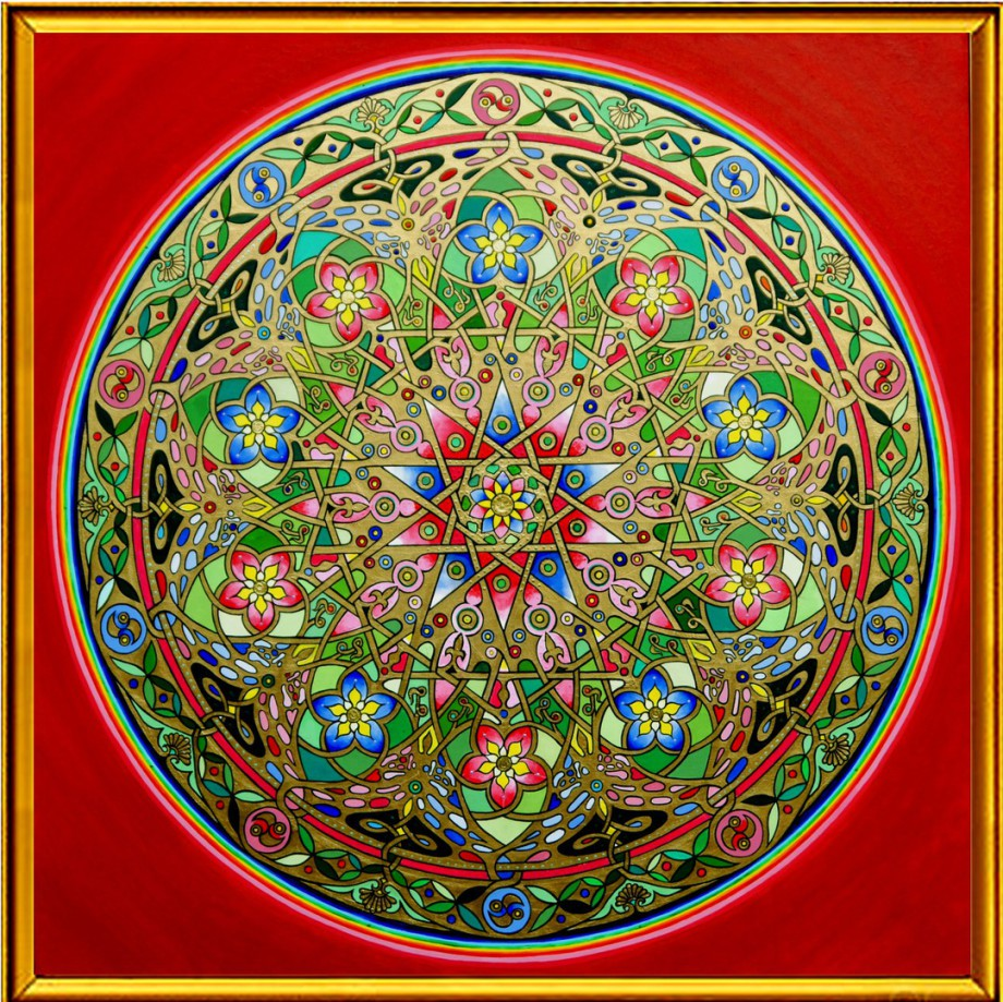 An image of Mandala called The Venus Rose by Famous Mandala Artist Stephen Meakin