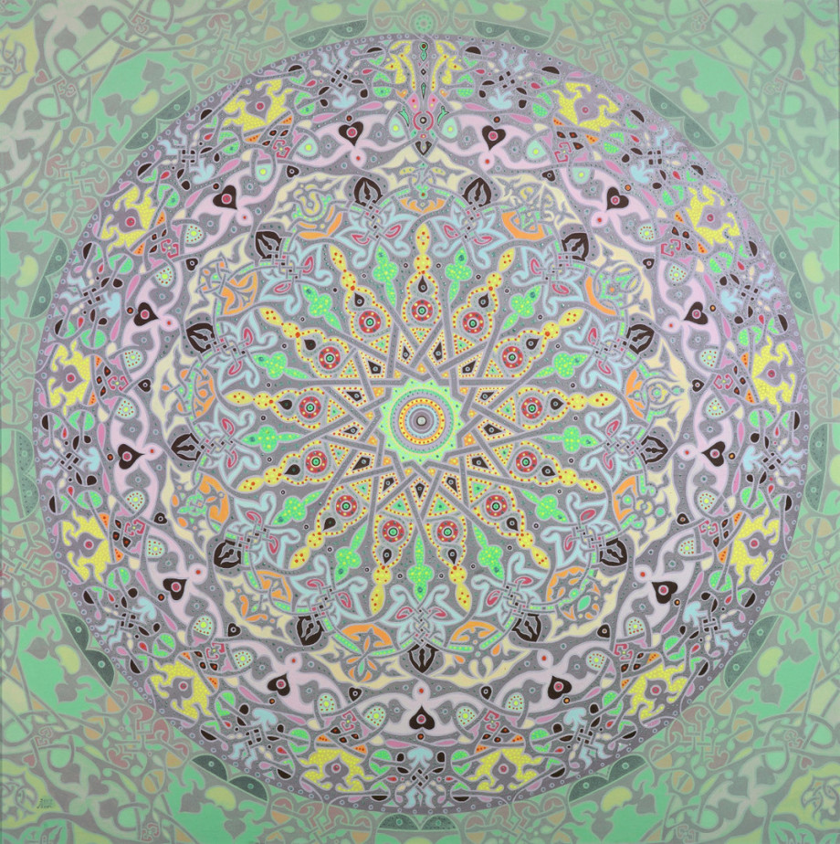 Moon Mandala by Artist Stephen Meakin