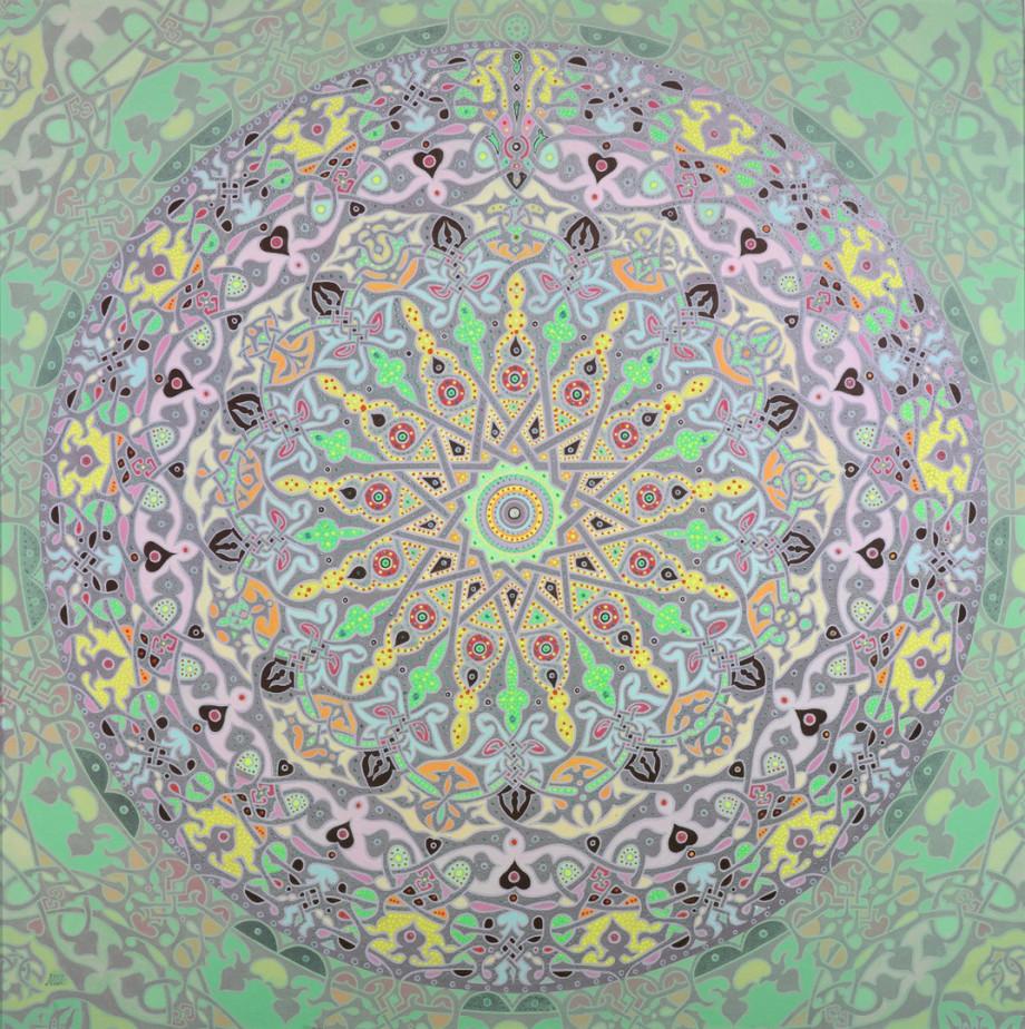 Moon Mandala by Artist Stephen Meakin Christian Mandala Art