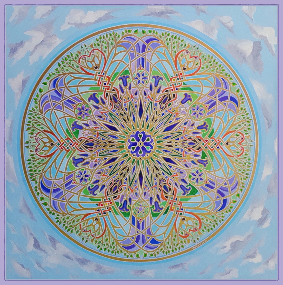 Dog Rose Mandala by Stephen E. Meakin