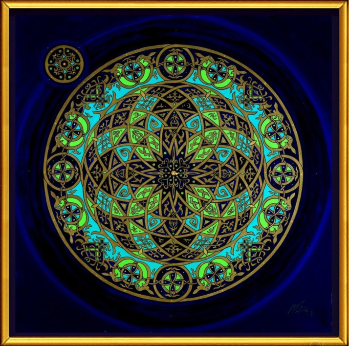 Christian Mandala by Artist Stephen Meakin
