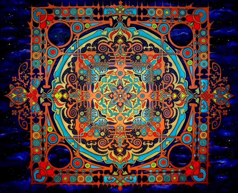 Stunning 180cm Mandala by The Worlds Best Mandala Painter Stephen Meakin