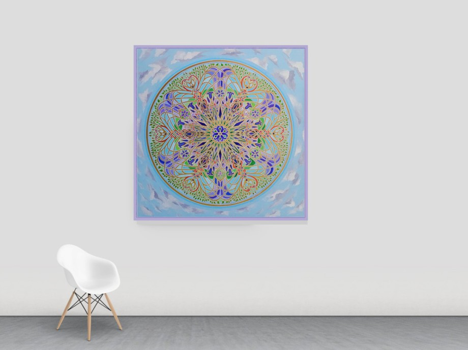Mandala Artist Stephen Meakin Bluebell Mandala of Re-Birth