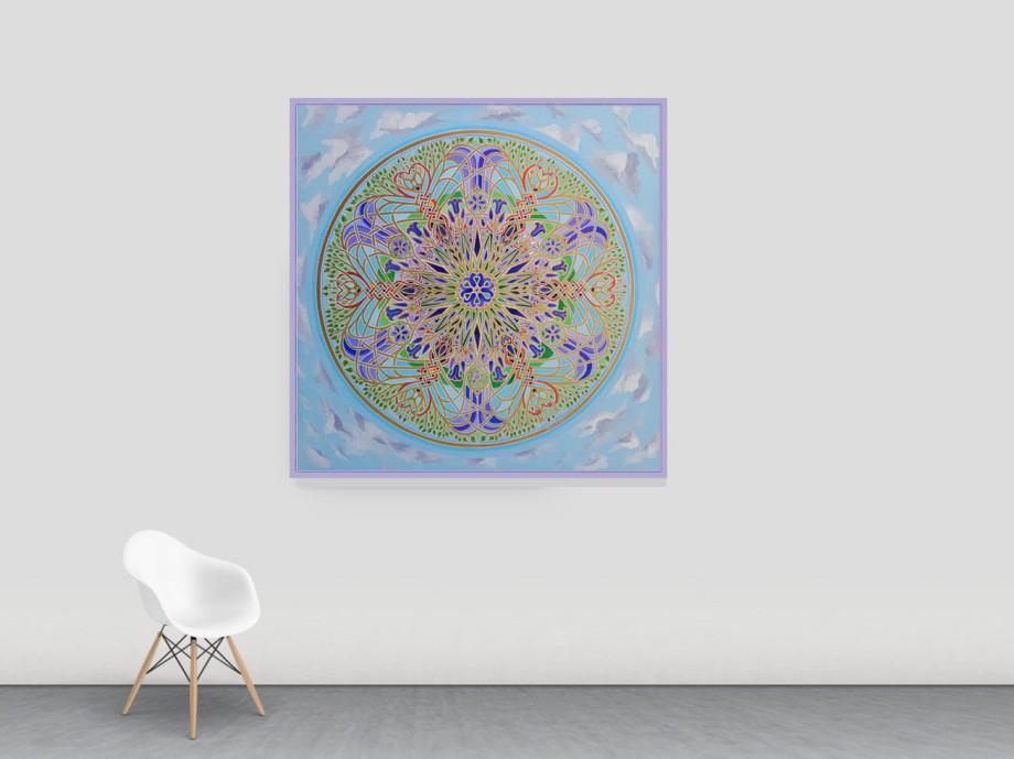 Famous Mandala Artist Stephen Meakin Bluebell Mandala of Re-Birth