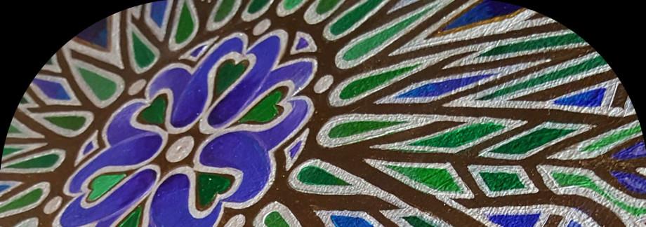 Bluebell Flower Mandala - close up detail artist Stephen Meakin 2021