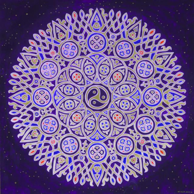 Christian Celtic Mandala by Artist Stephen Meakin